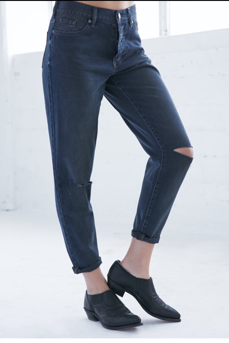 Dirty Tint Ripped Bf Jeans   $19.99   online only