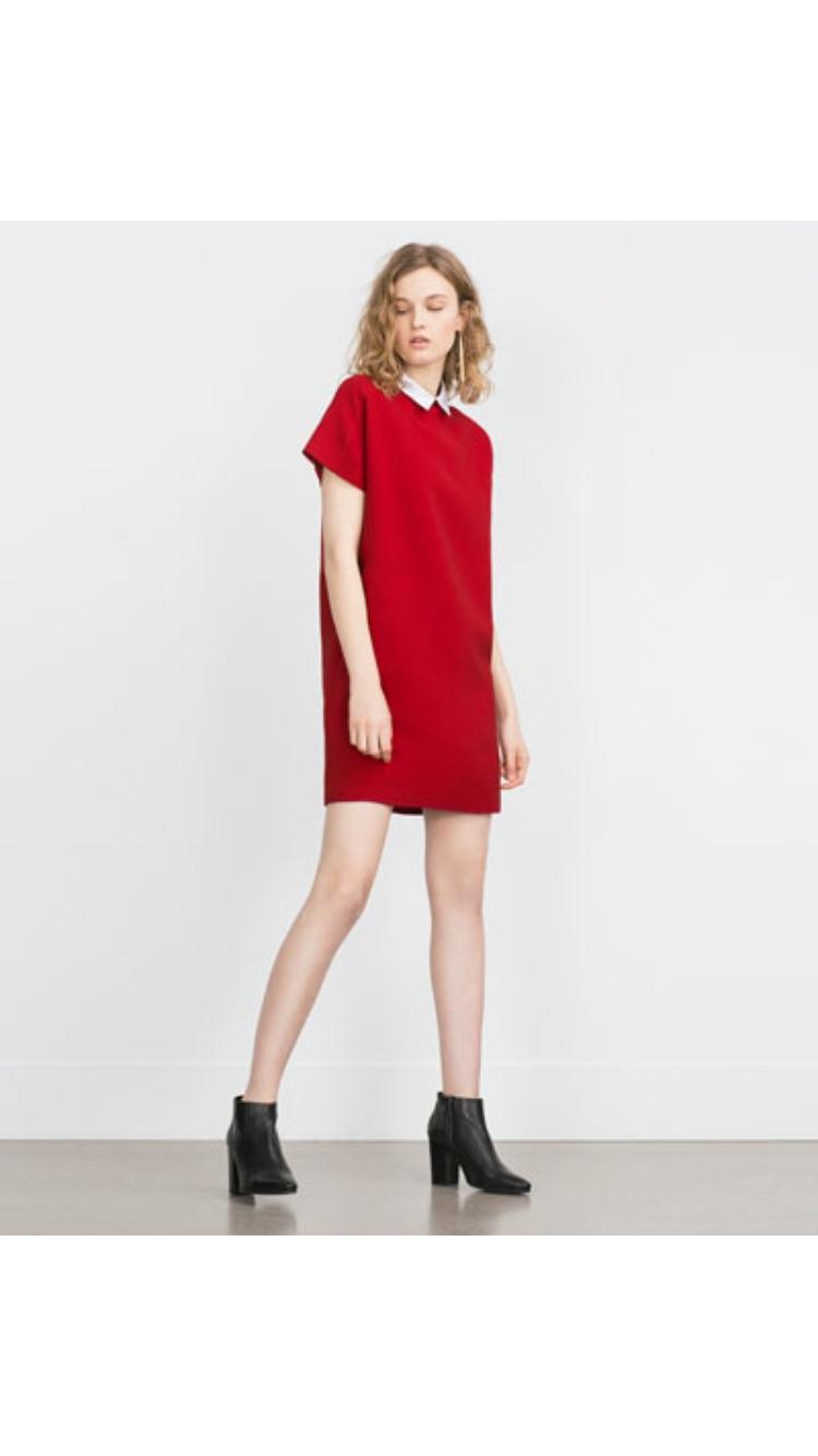 Found online at Zara  Poplin Collar Dress   $49