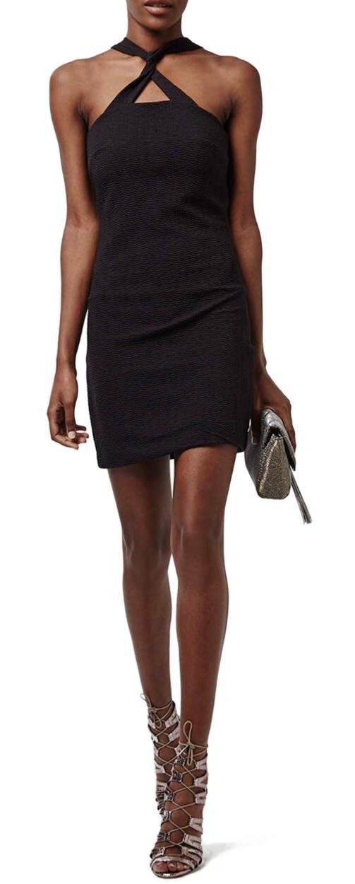 Found online at Nordstrom   Twist Front Body-con Dress  $50