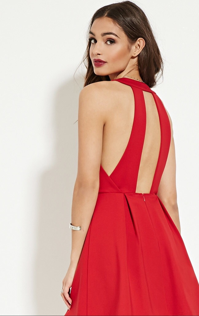 Found Online at Forever 21   Cut-Out A Line in Red  $34.90  free shipping over $21
