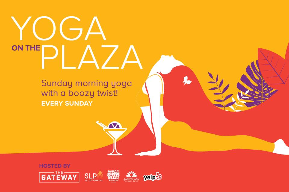 Gateway yoga on the plaza