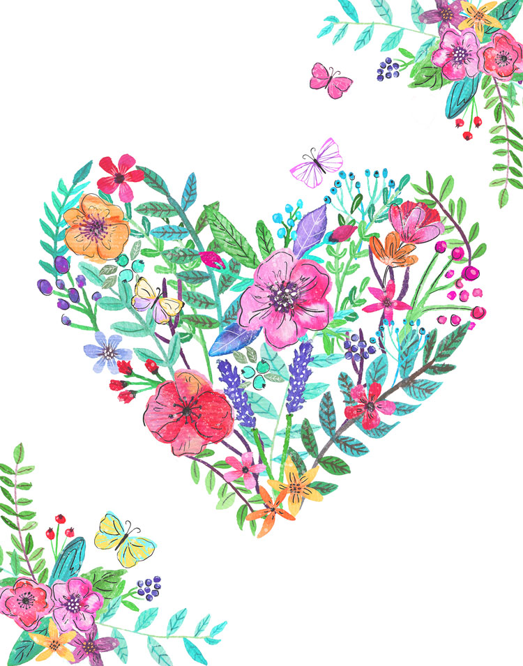 LisaLane-Flower-bouquet-heart-card.jpg
