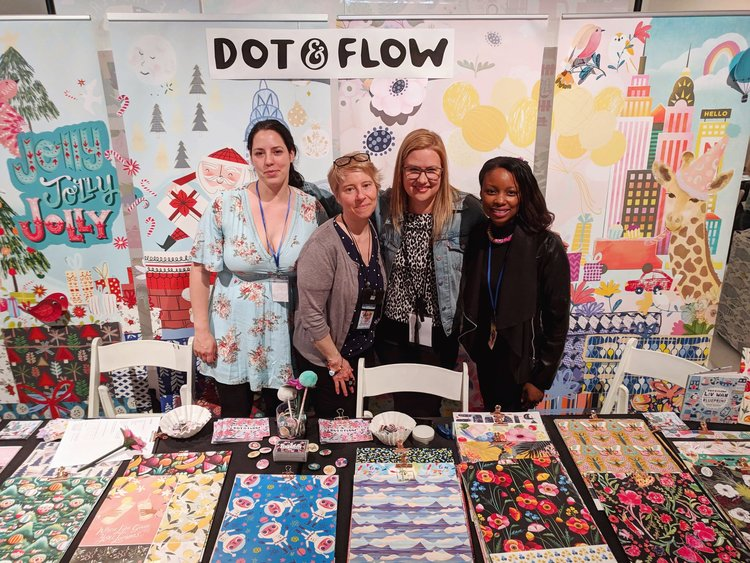 Metka, Aimee, Marie, Natalie in the Dot & Flow Booth
