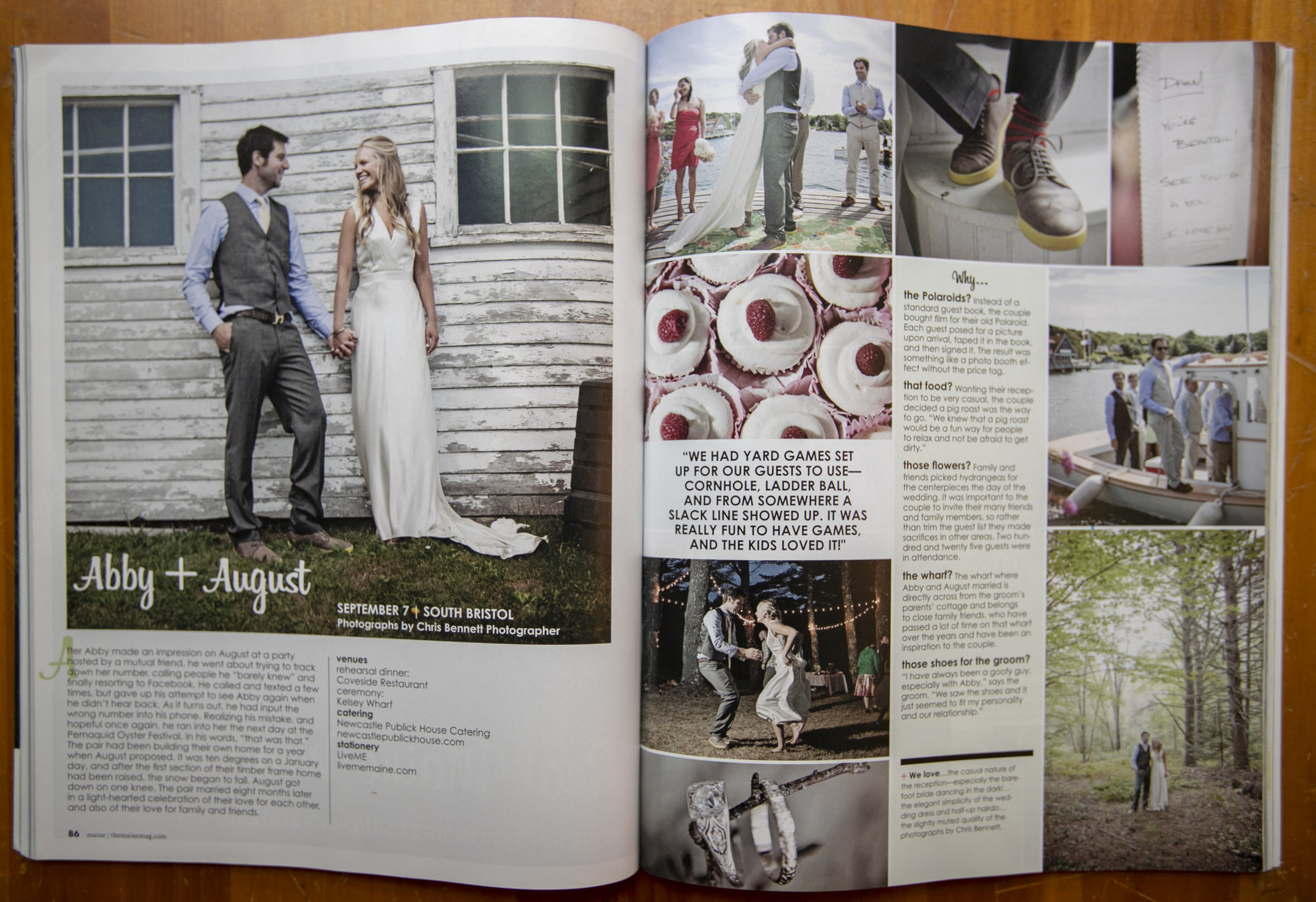 Maine Magazine wedding issue 2014
