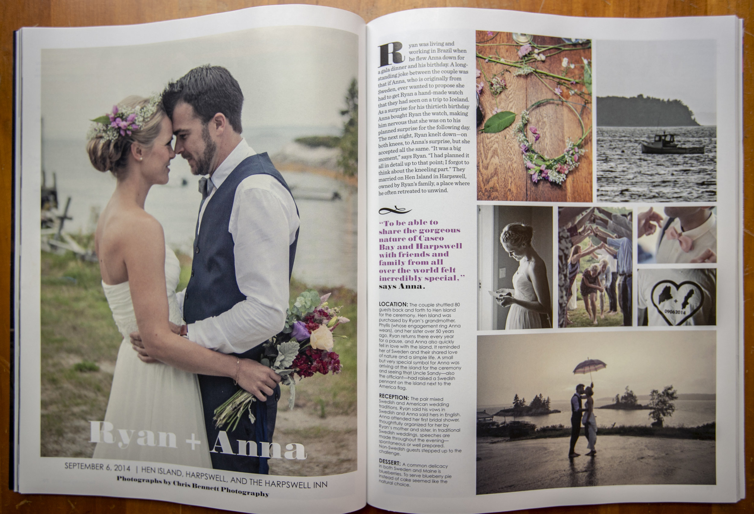 Maine Magazine wedding issue 2015