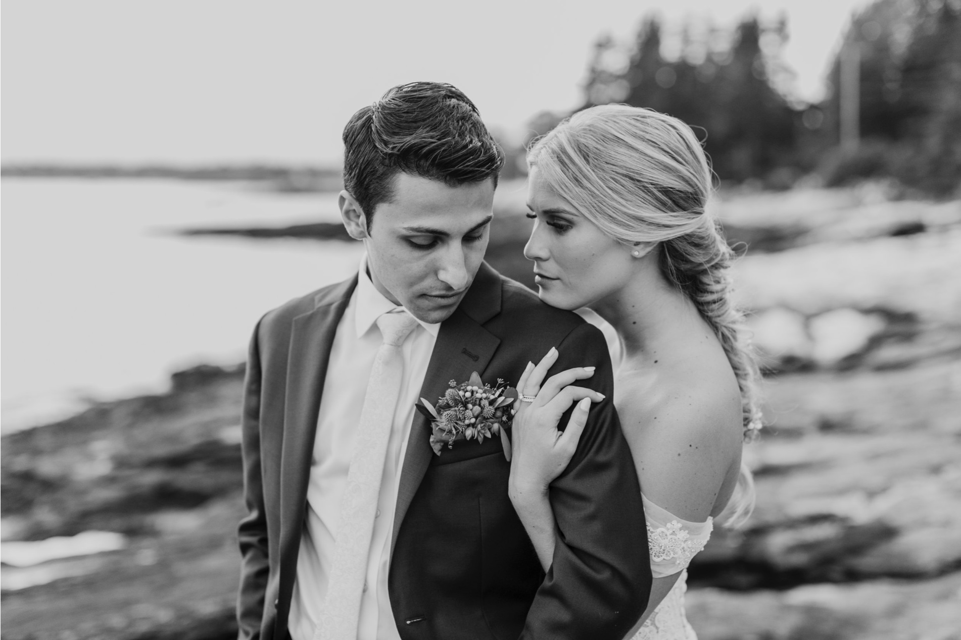 Megan and Josh, Spruce Point Inn, Boothbay Harbor, Maine.