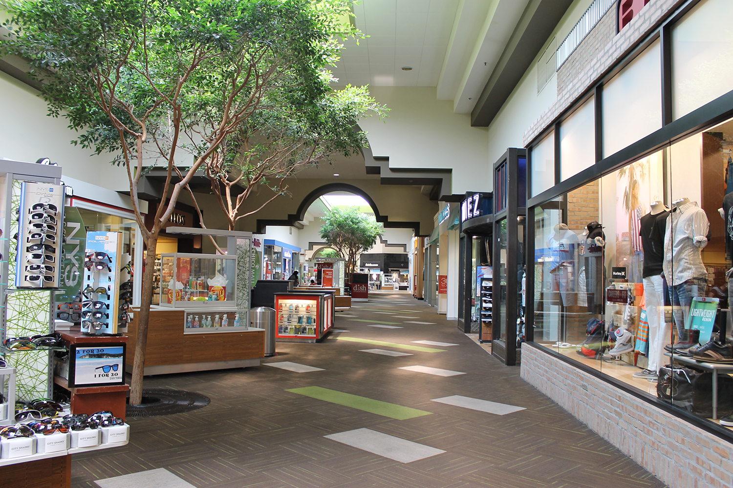 Chico Mall, anchored by JC Penney, Sears, and Dick's, was recently updated