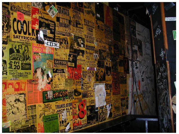 the wall at Satyricon