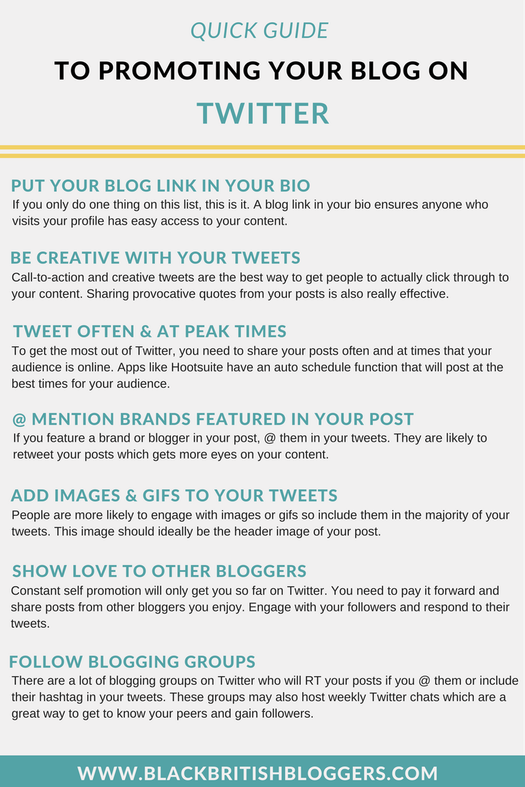 Promoting your blog on Twitter