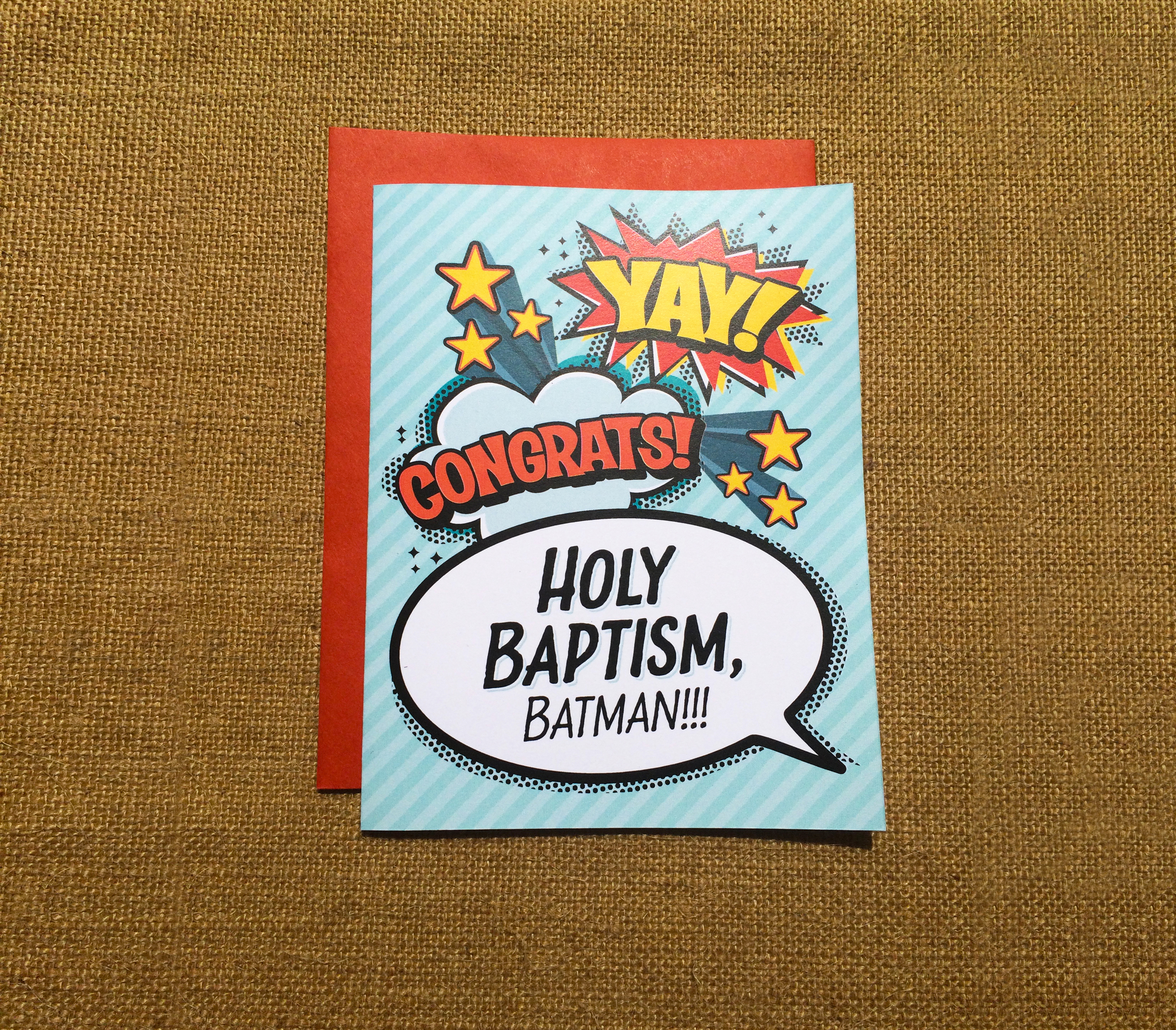 Baptism Greeting Card - by Paper Route Studio