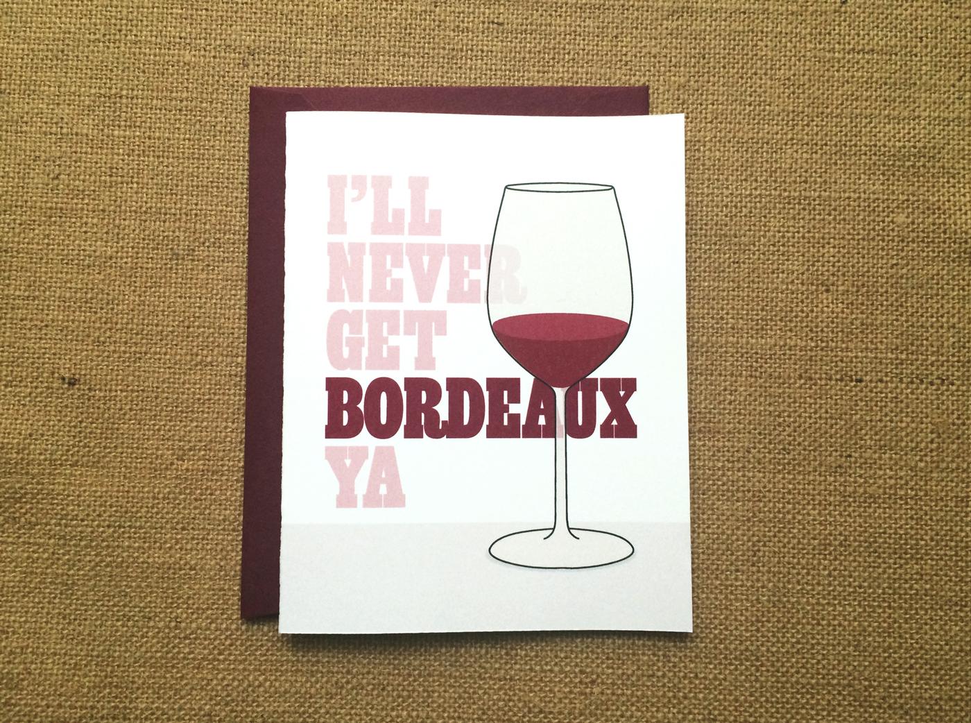 Wine Drinker's Card