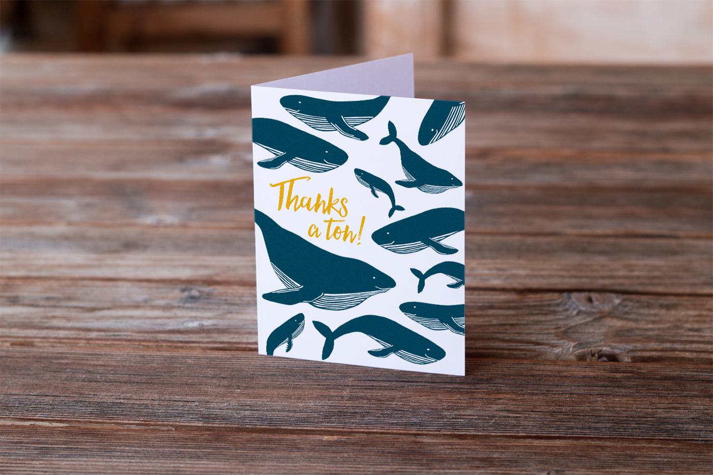 Thanks a Ton notecard
