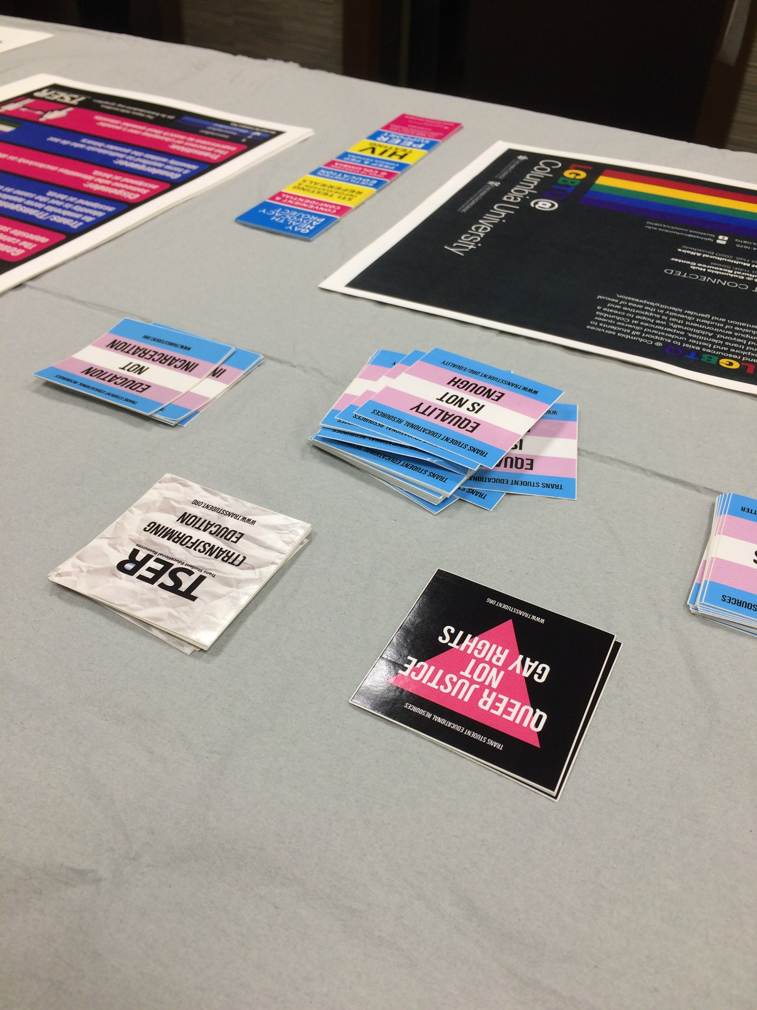 Tabling to combat transphobia