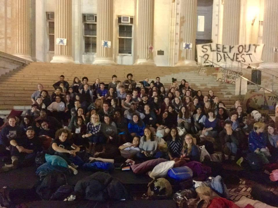 Activist sleepover at Columbia