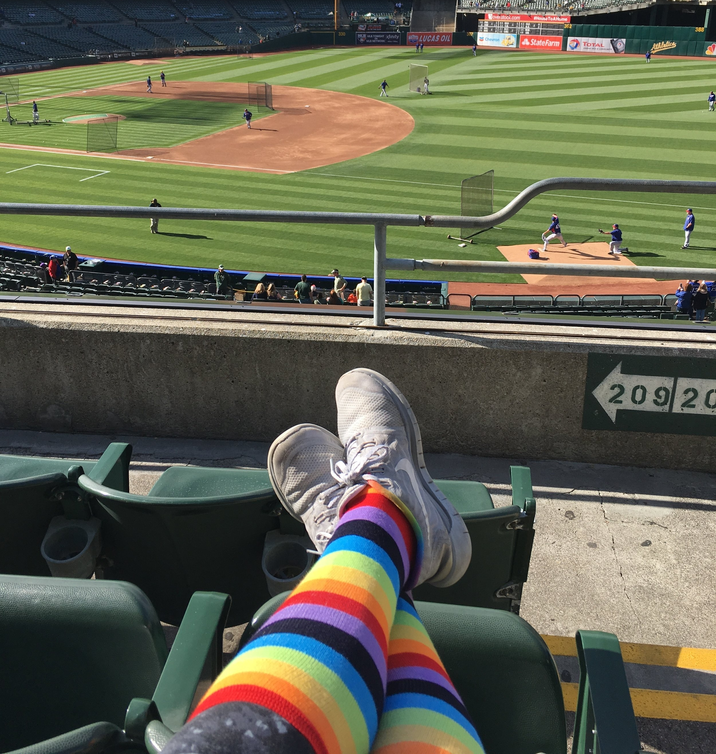 Oakland A's pride night (after Orlando)