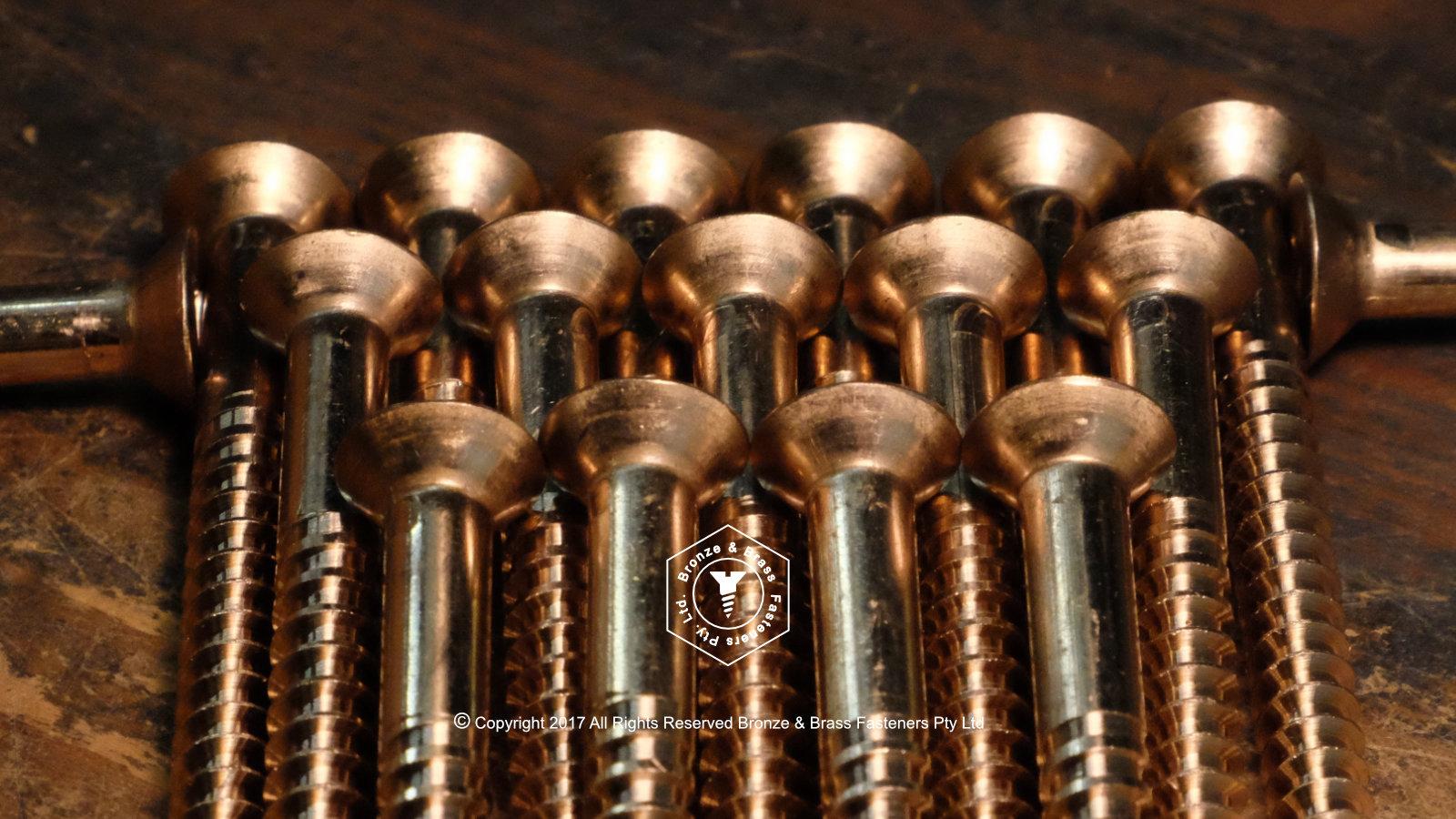 Silicon bronze Flat Head Wood Screws - Cut Thread - Square Drive
