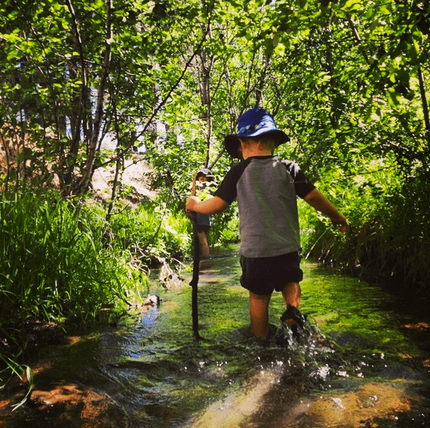Sam's son, Beck, exploring new terrain in New Mexico