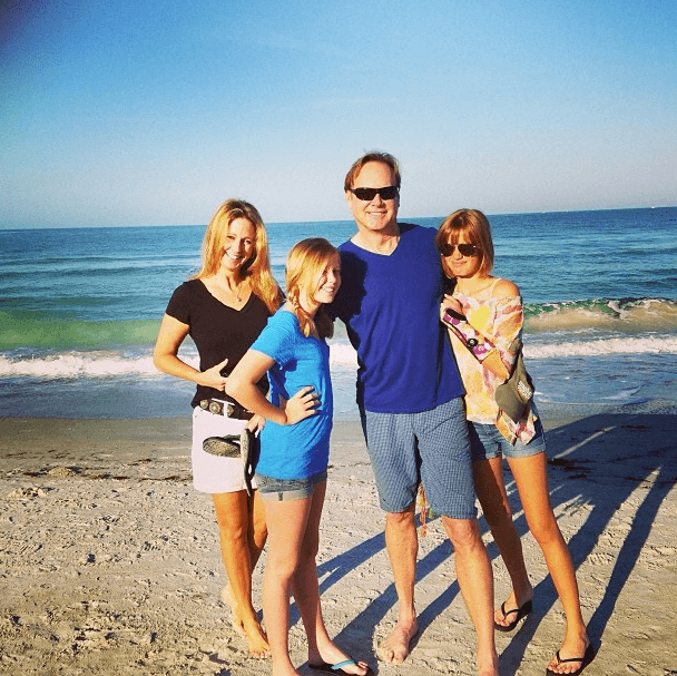 Sandy's family on the beach in Mexico