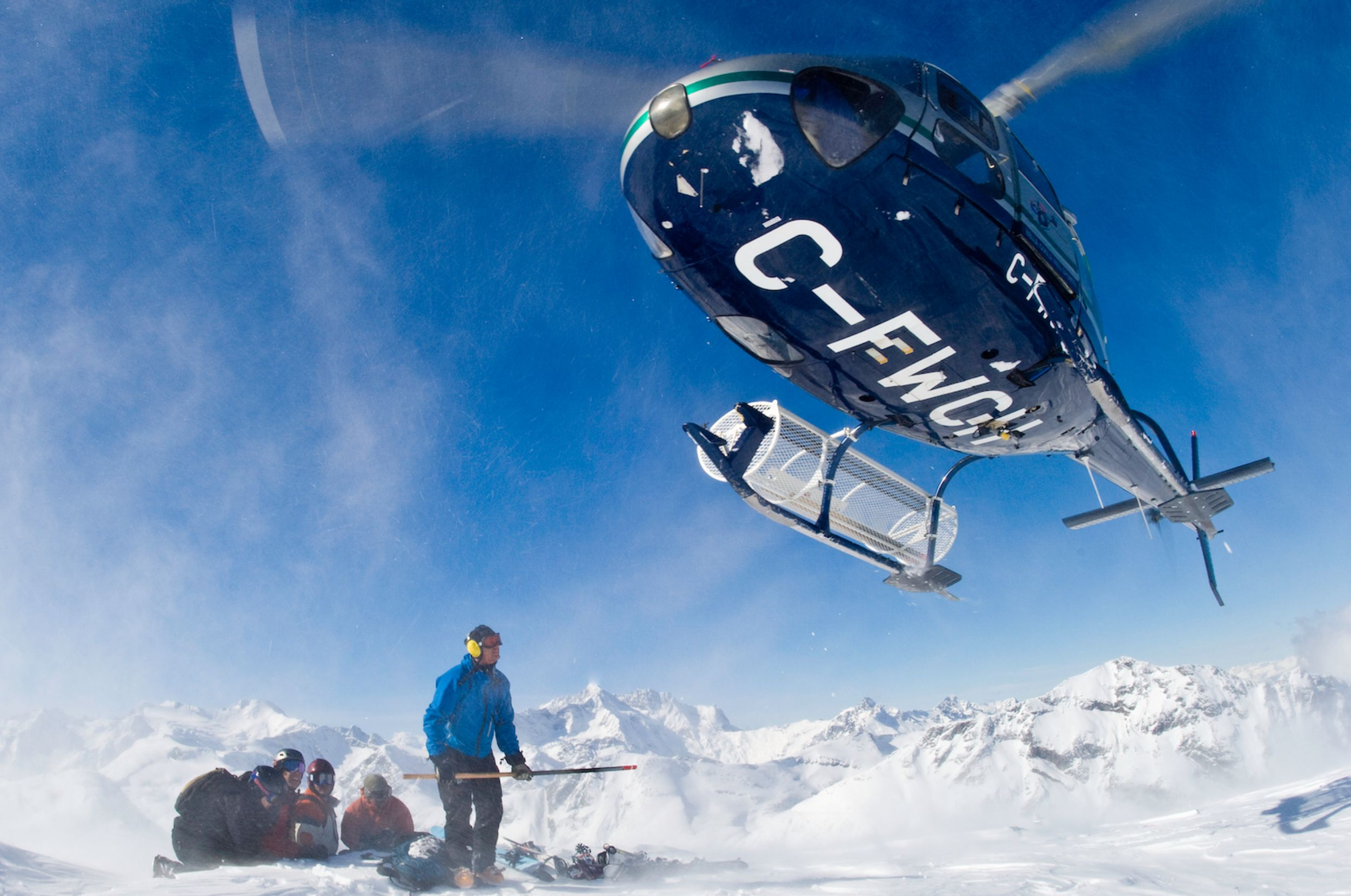 Heli Landing with Group photo Eric Berger and Bella Coola Heli Sports copy.jpg