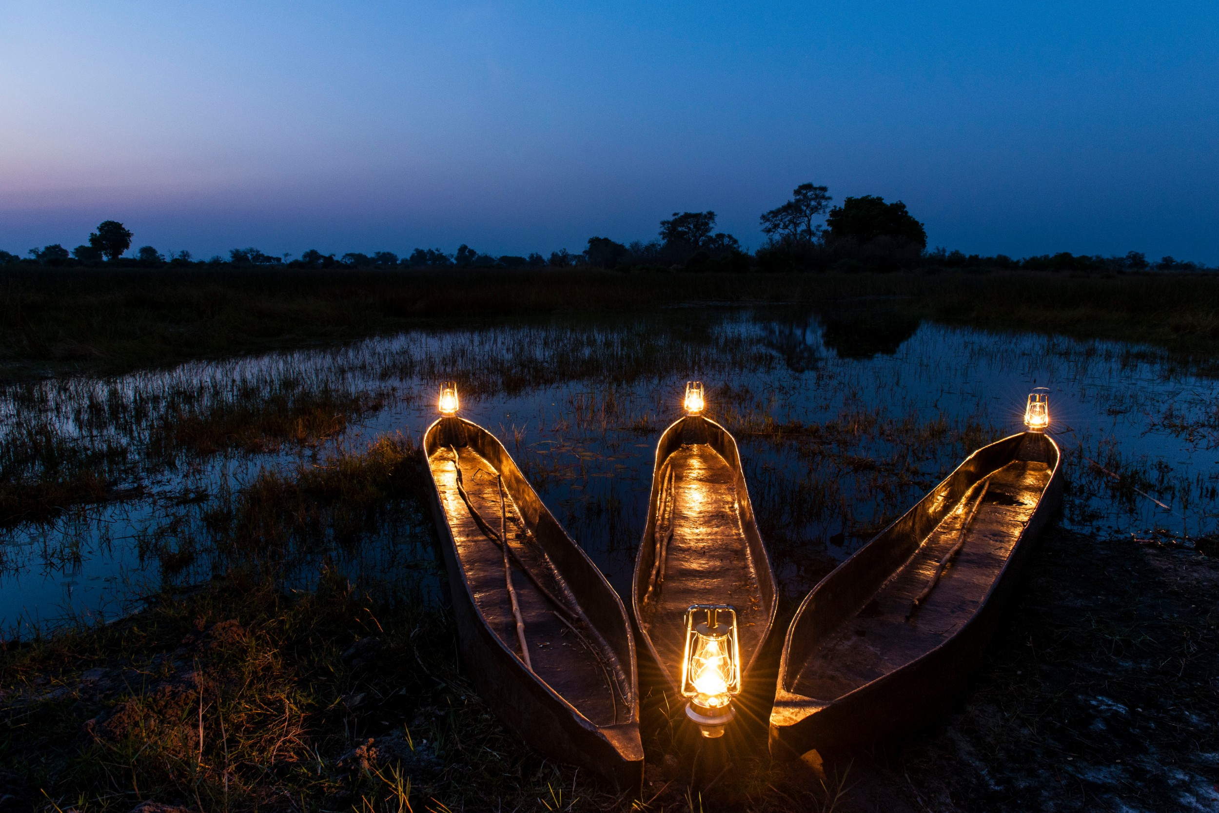 28Mapula Lodge - Mokoros at night.jpg