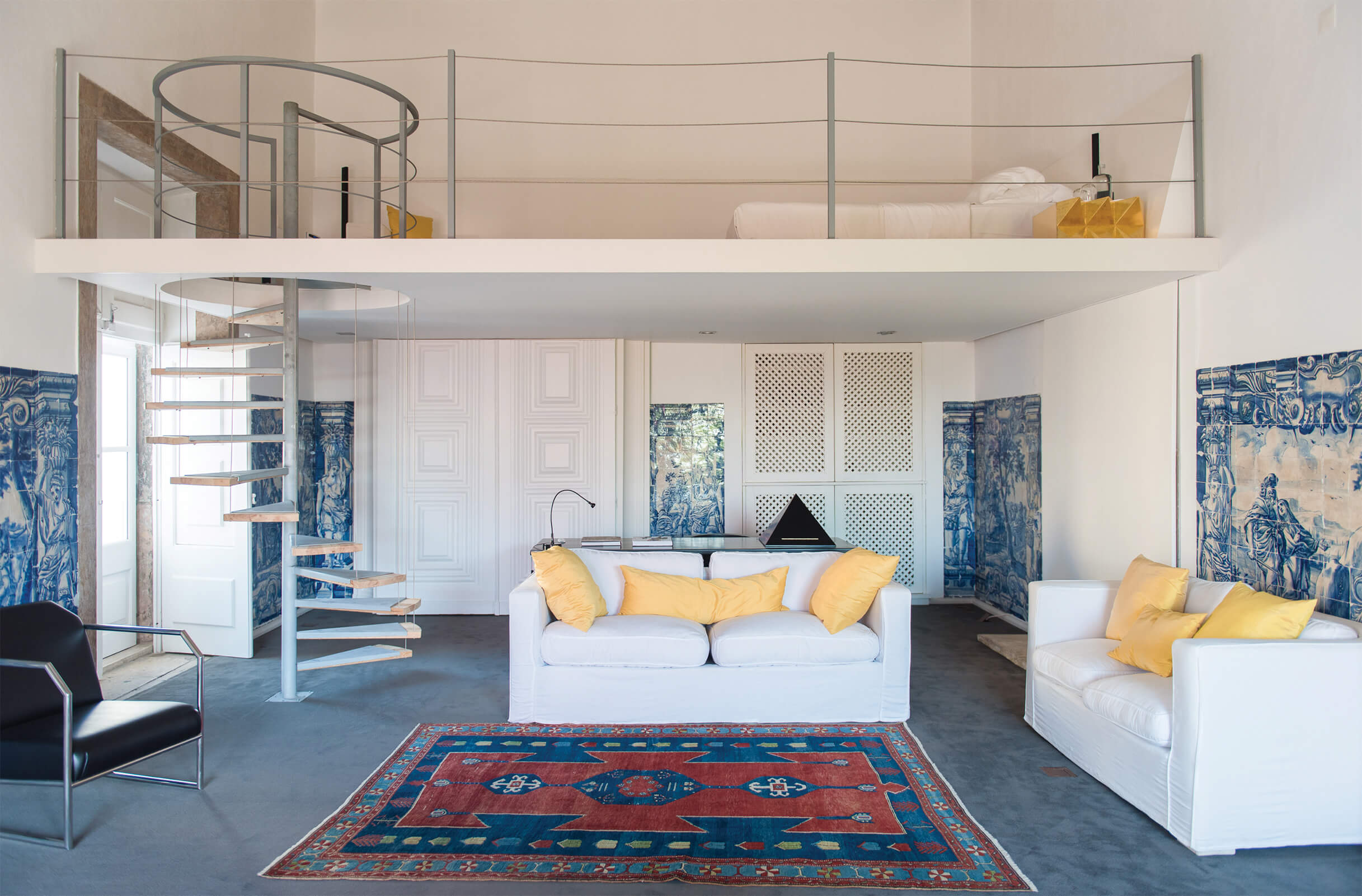 The Amadeo de Souza Cardoso suite living room and mezzanine 02 ┬® Sivan Askayo.jpg