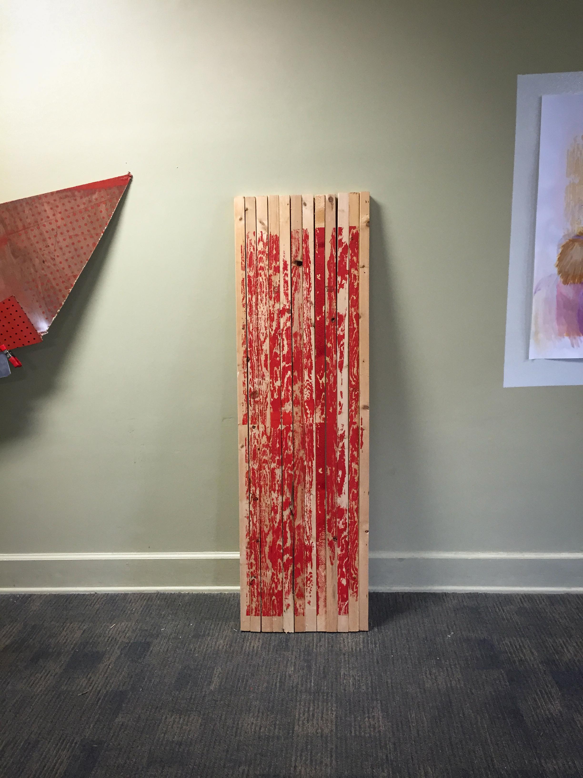 Stretcher , screen print on wood