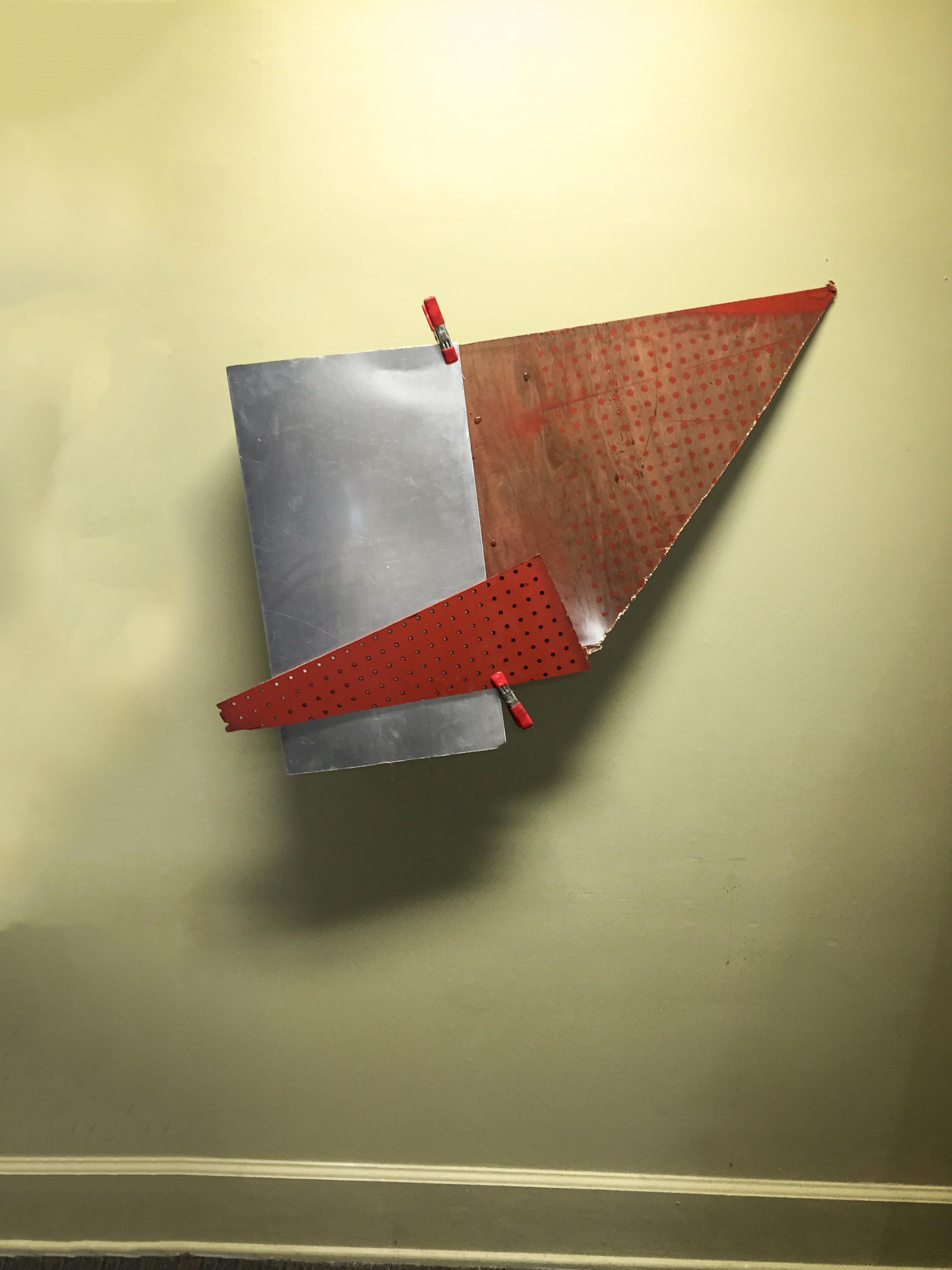 Fragment 2 , wood, paint, metal