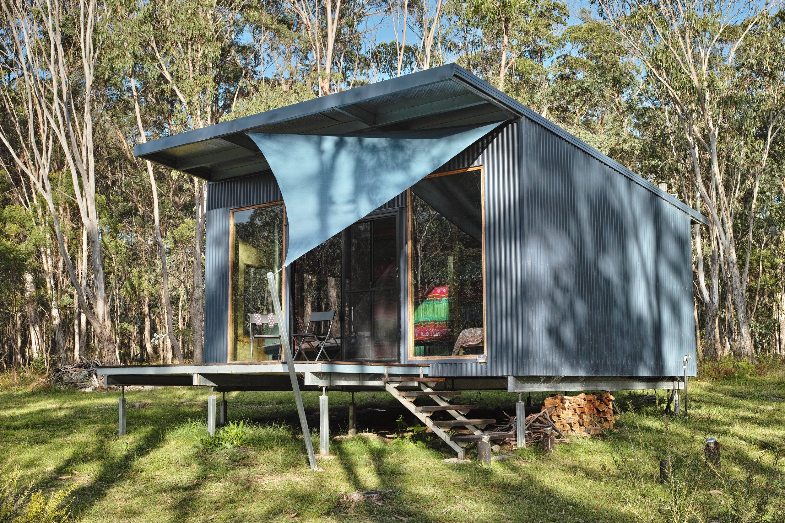 all our cabins are elegant,spacious yet cosy, with ensuite,comfortably sleeping 1 to 4 guests. Each cabin has a roof sprinkler for fire protection if required, and fire hoses are adjacent, supplied under pressure from our million litre lake.
