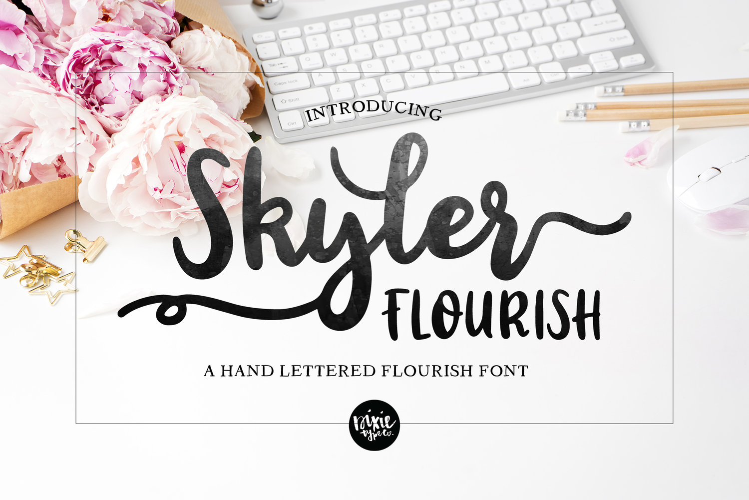 HAND LETTERED  OTF Font Bundle, Handwriting Script Fonts, Commercial Use —  DIXIE TYPE CO
