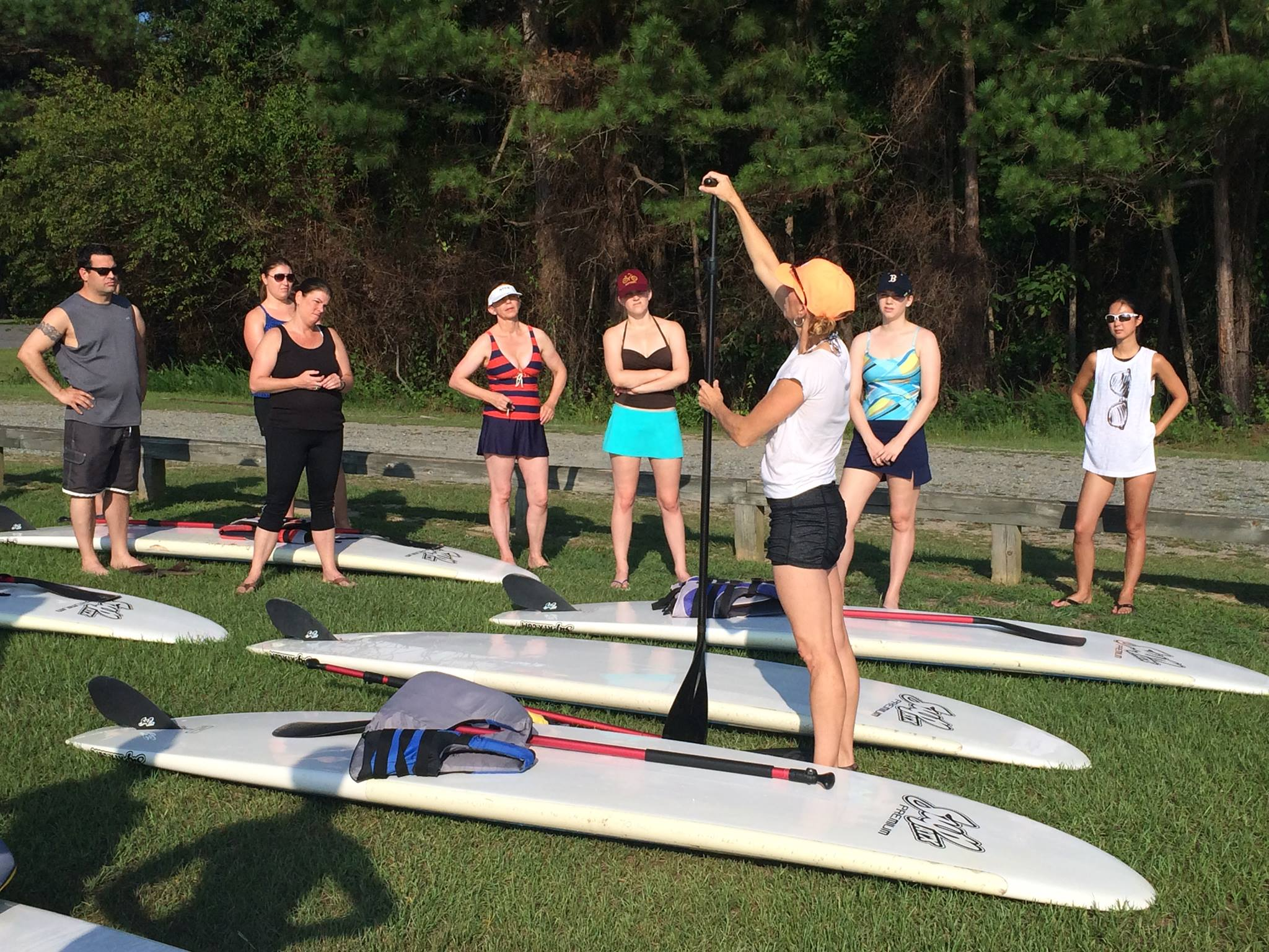 Maria Finnegan's SUP Class basics before hitting the water