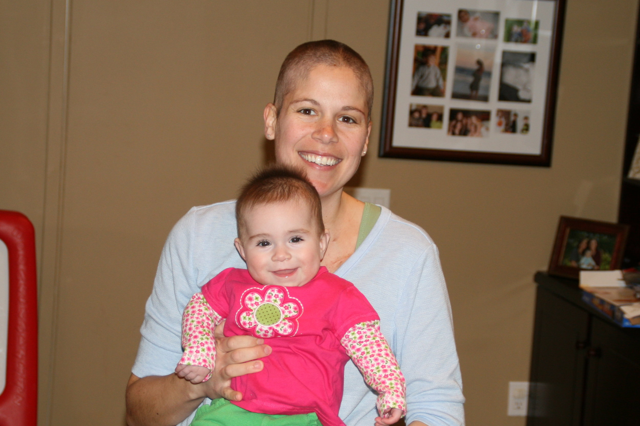 The night I shaved my head with Nate and baby Lillian had more hair than me