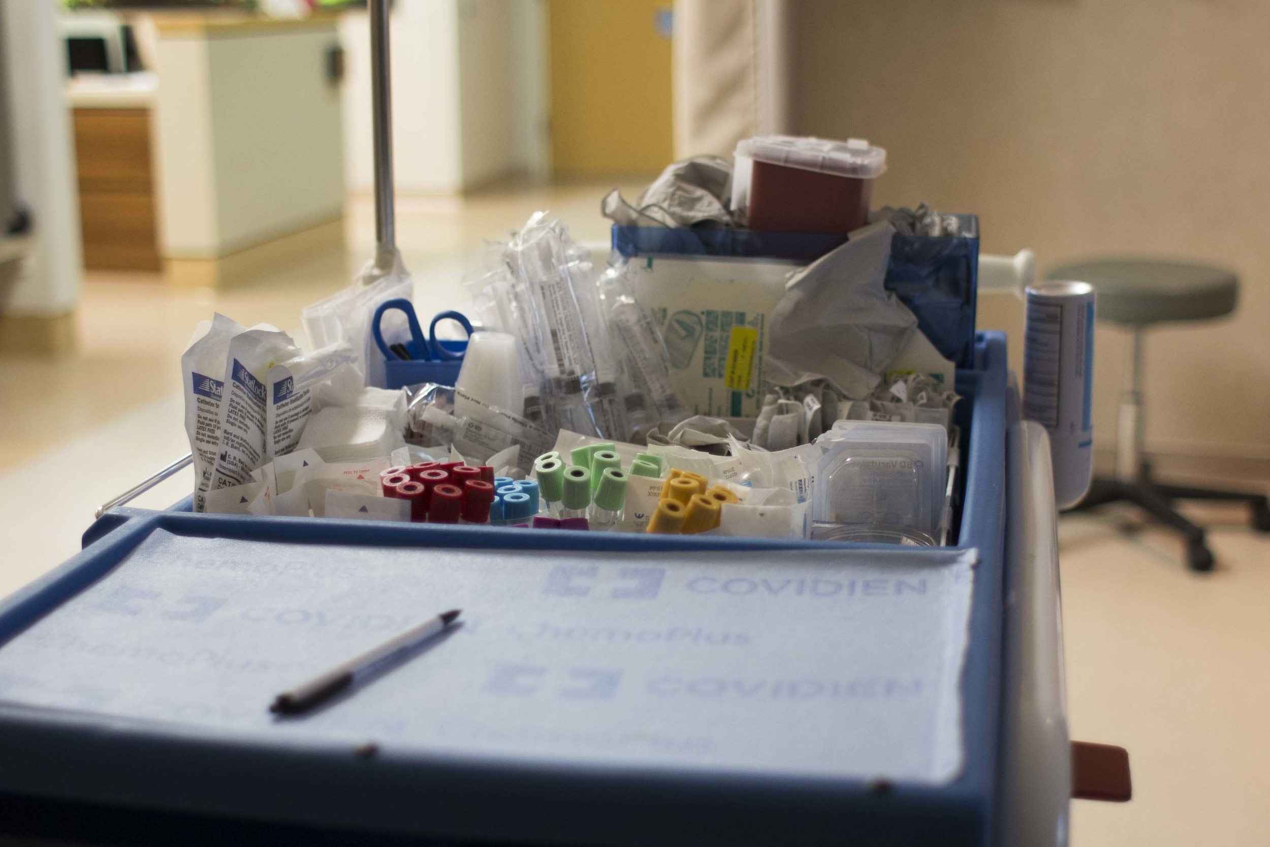Medical supplies nearby