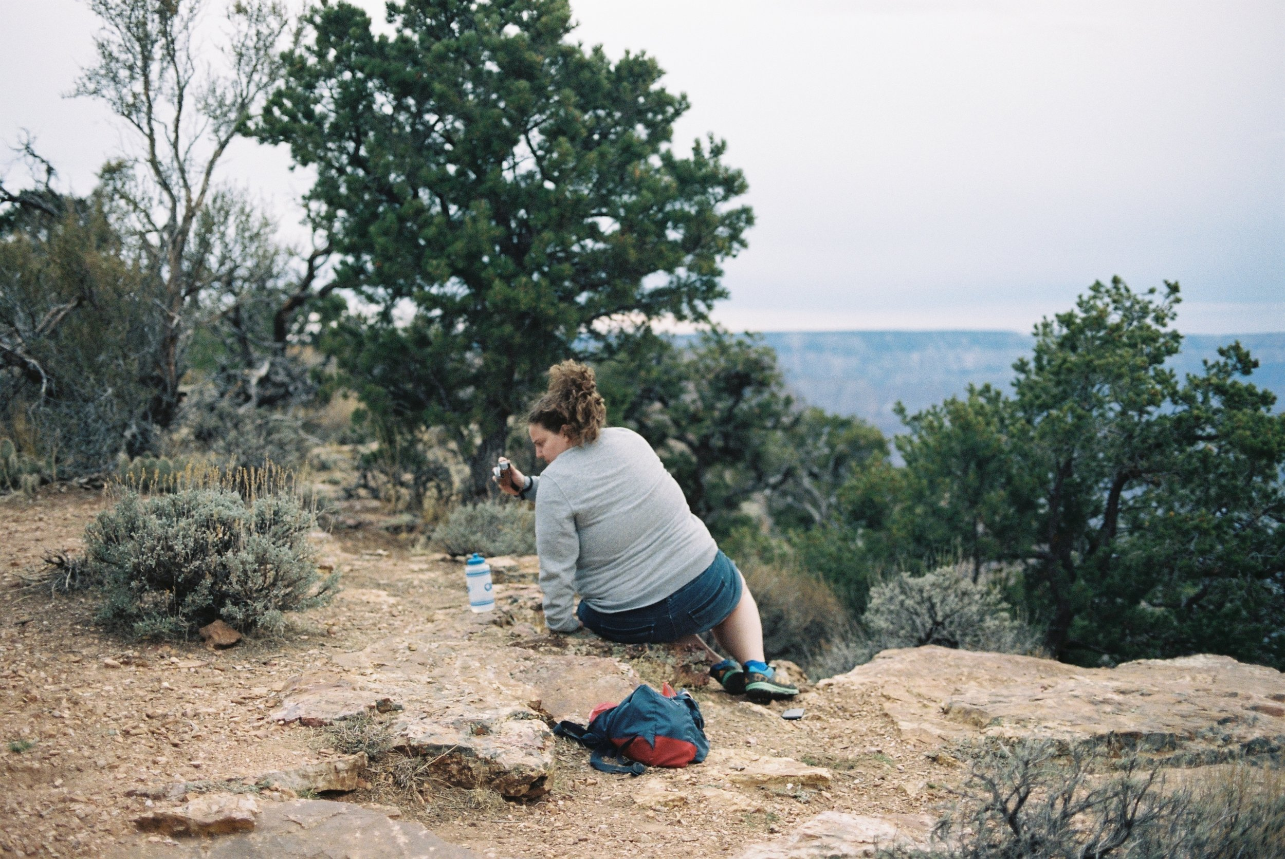 Photographing green at the Grand Canyon