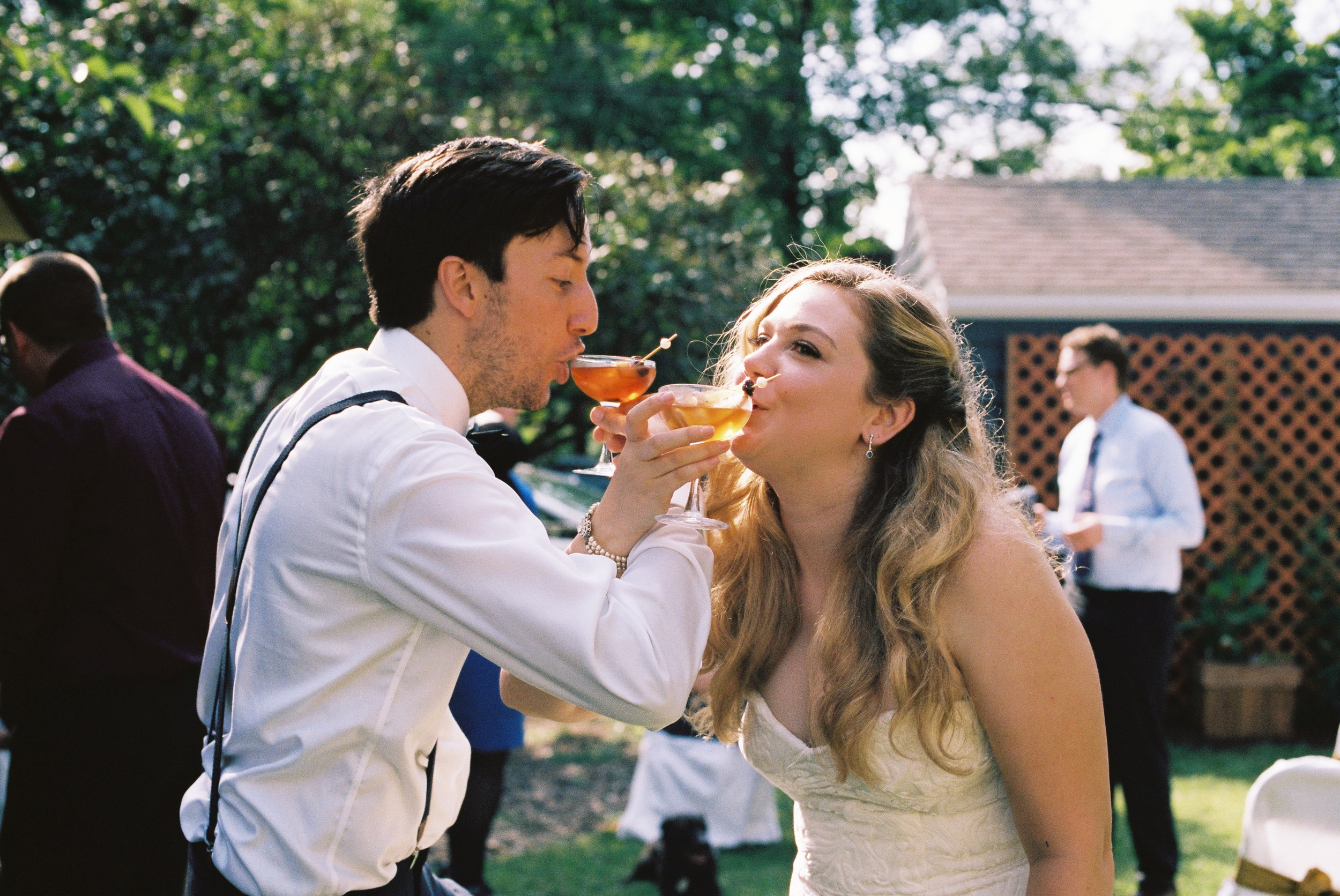 Eric and Kelsey enjoy a drink