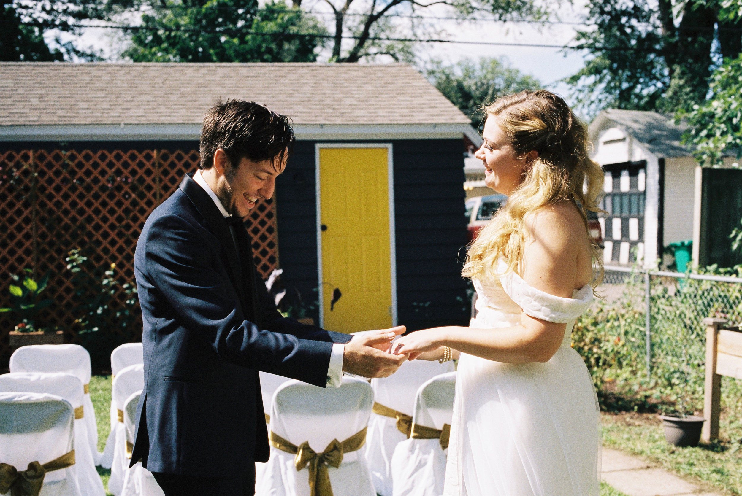 Eric and Kelsey before the ceremony