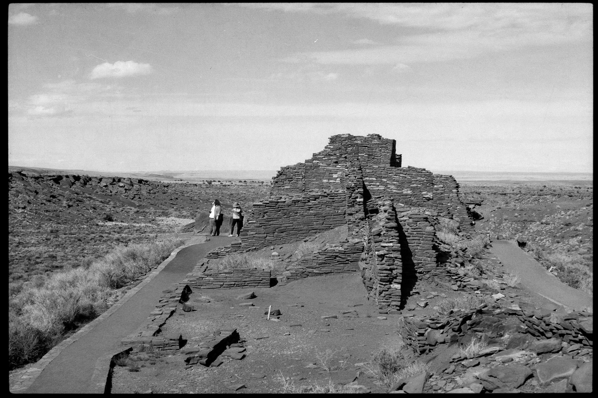Deteriorated dwellings that used to be bedrooms at Wupatki National Monument