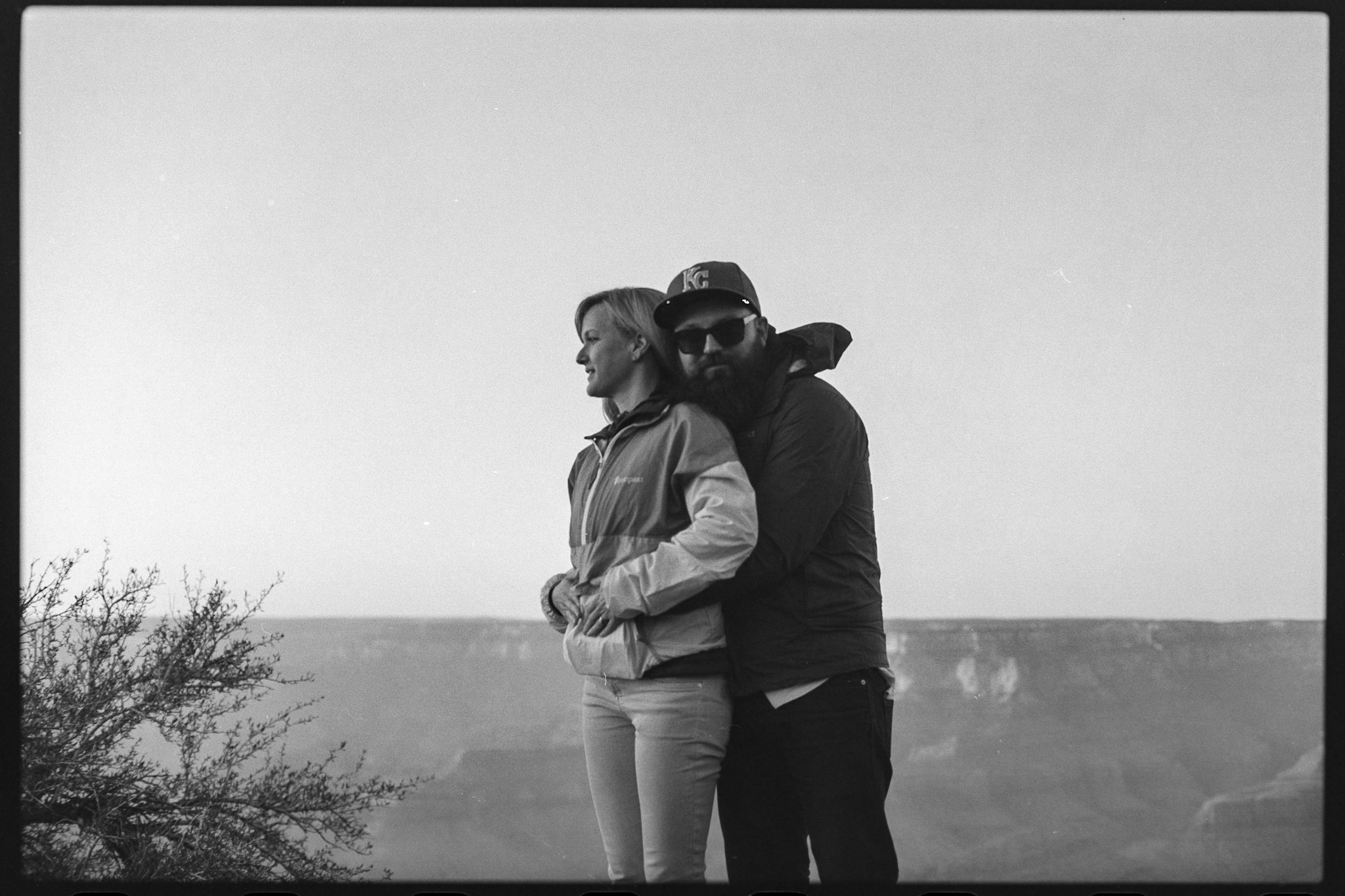 Claire and Dane at sunset at the Grand Canyon