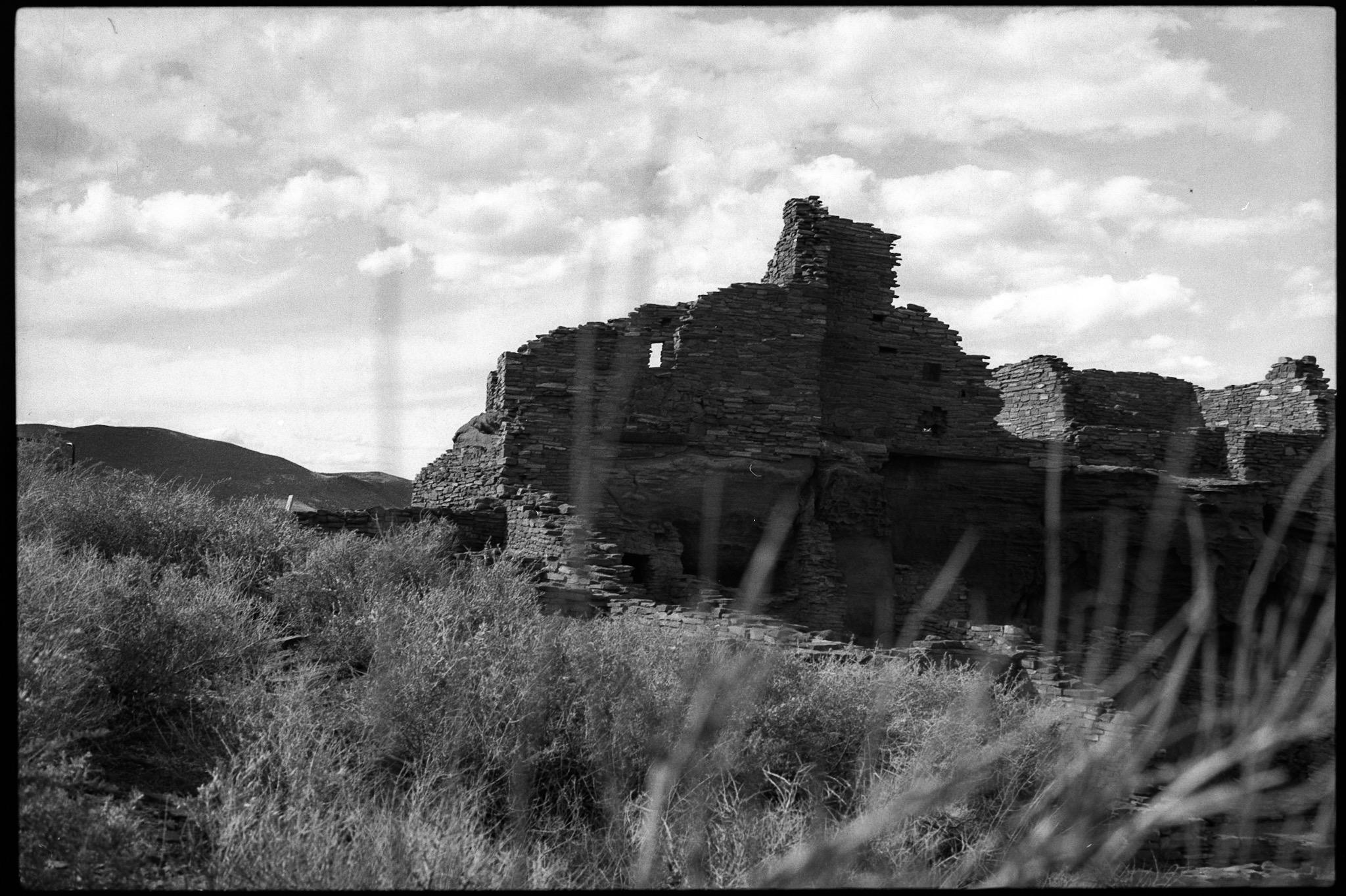 Wupatki ruins set against grasses
