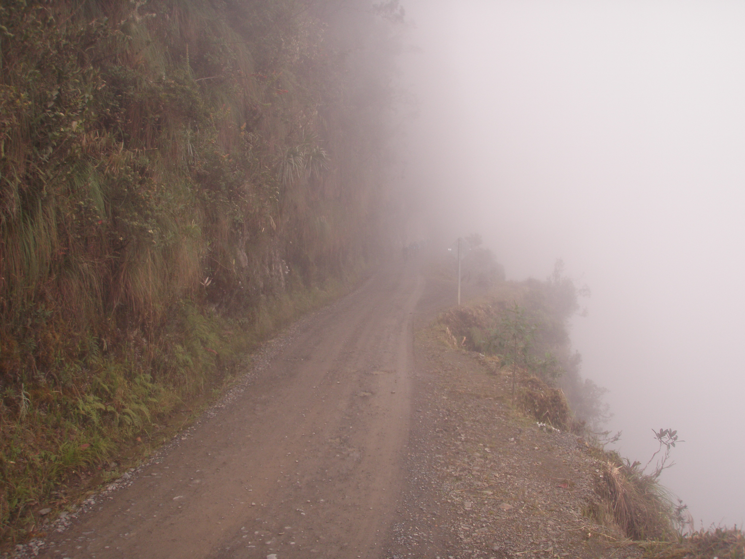 Visibility tends to be extremely limited