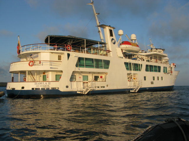 The Isabella II, a medium sized live-aboard cruise ship