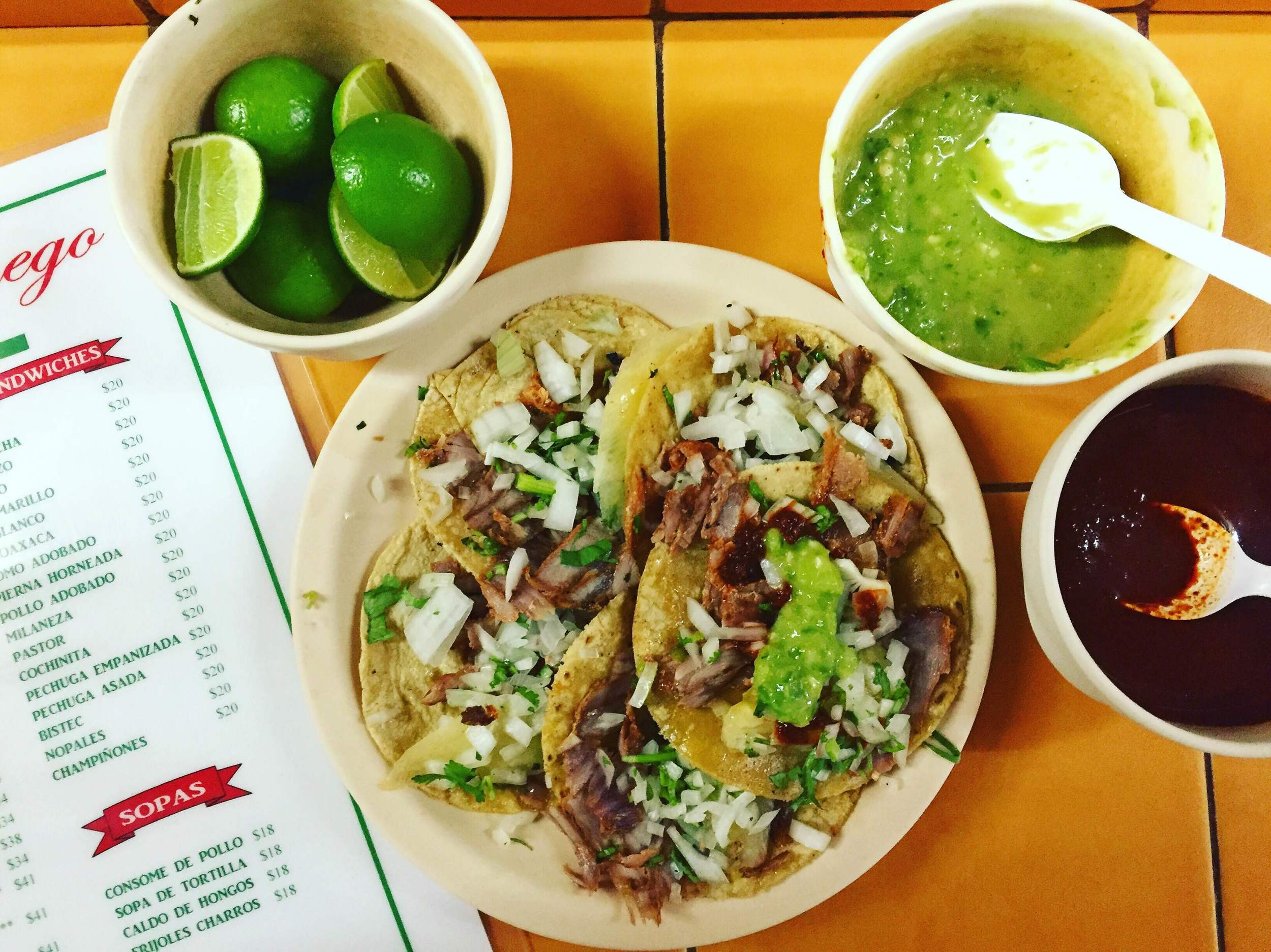 Tacos el pastor, fist meal after I landed in Mexico City