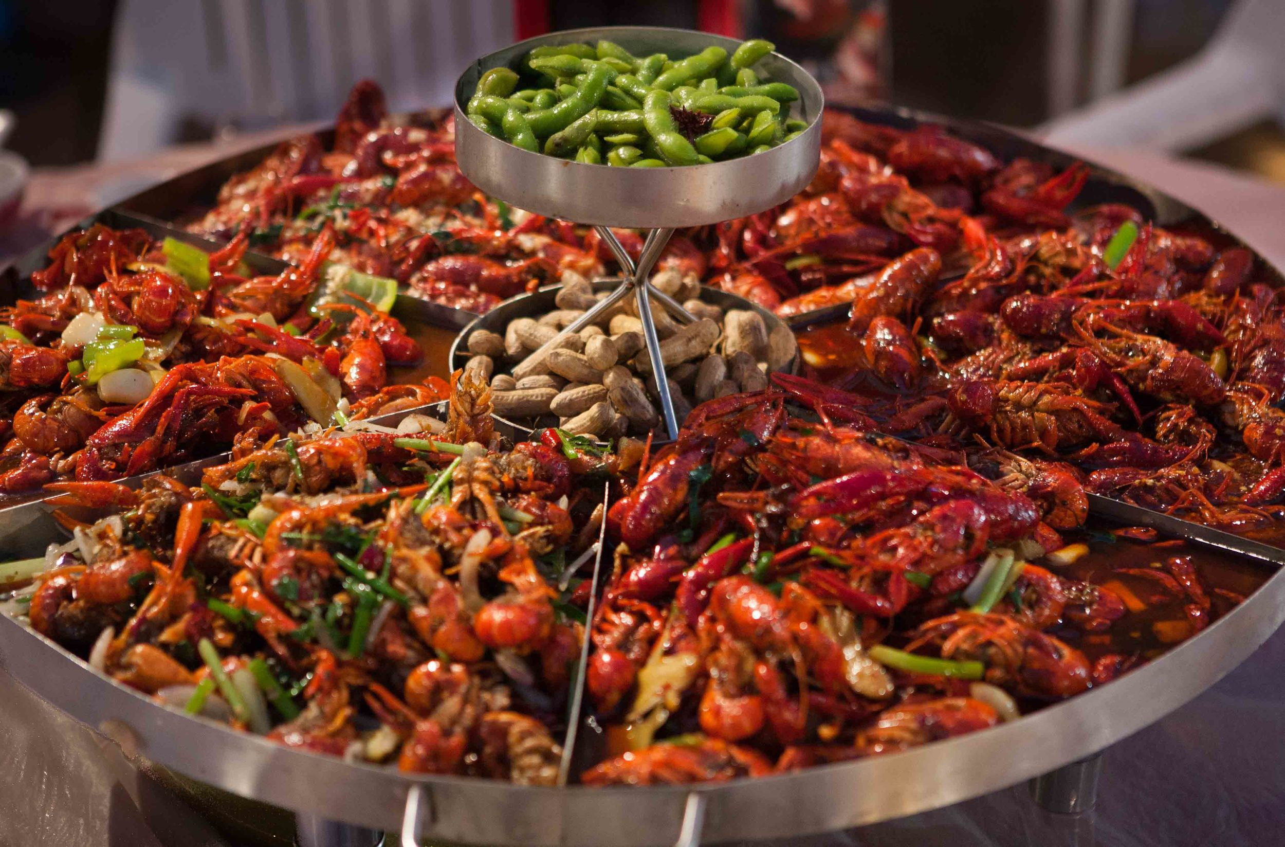 Epic 10lb crawfish tower with six different flavours