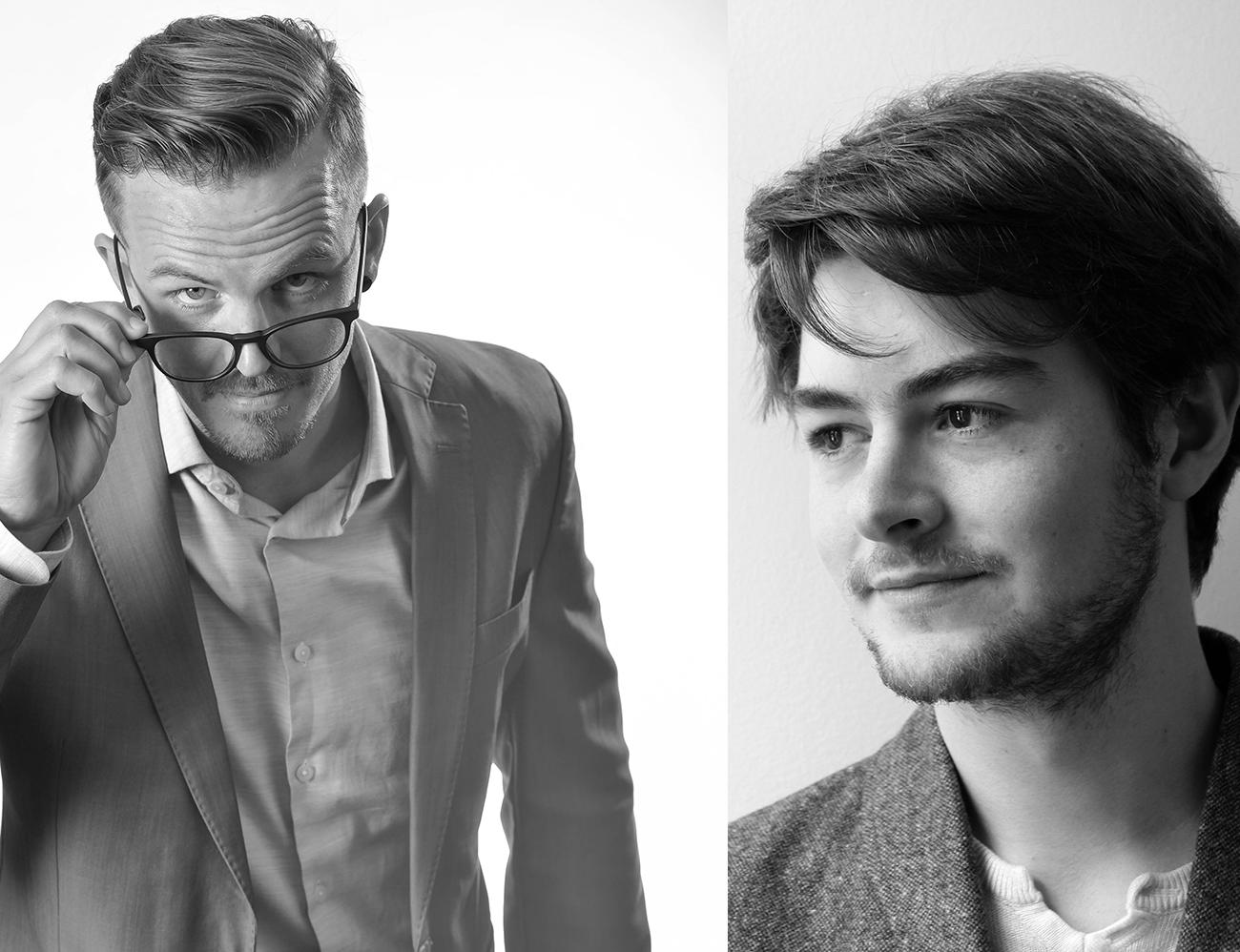 Daniel Sunden (left), John Flitcroft (right)