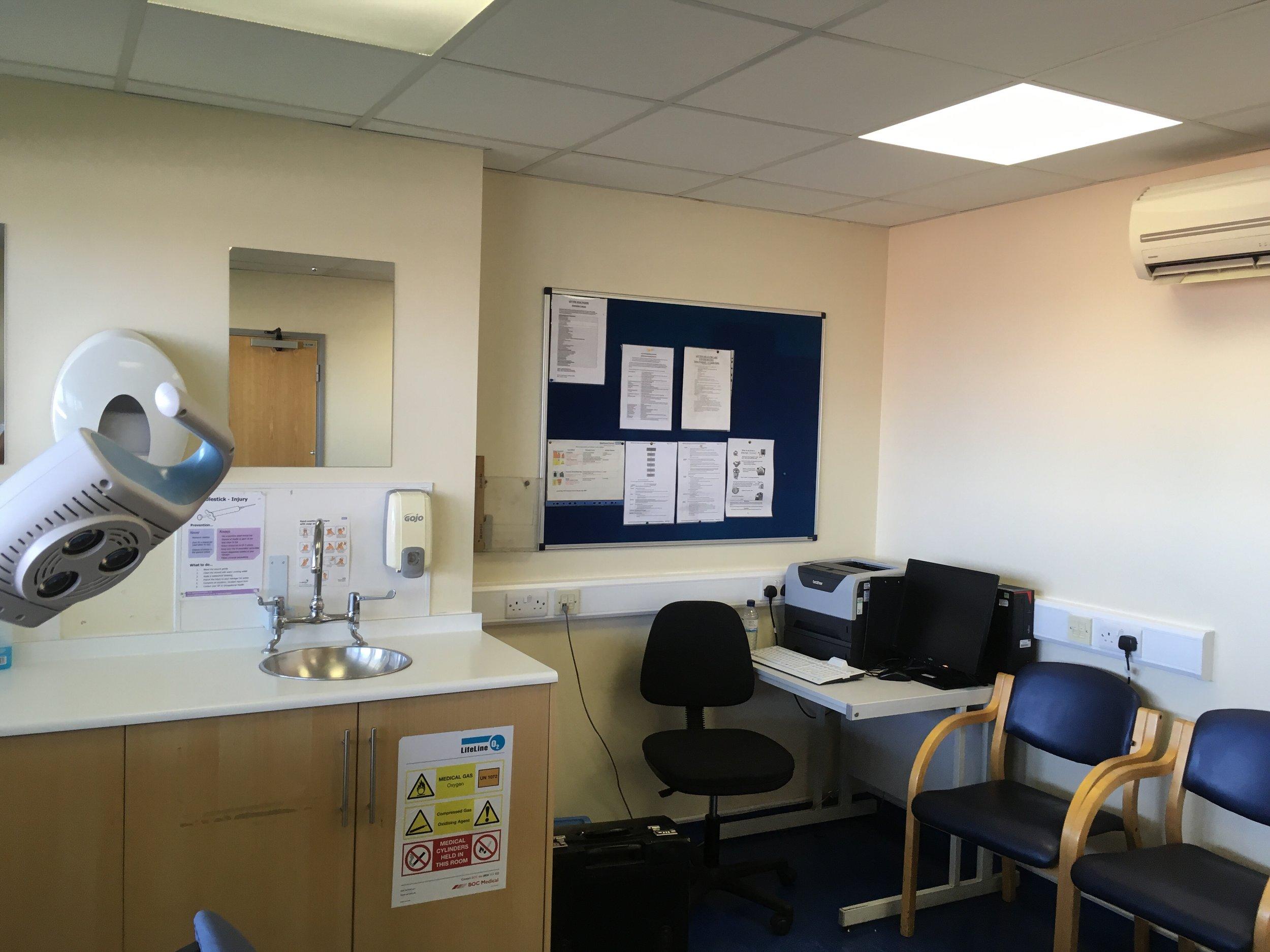 Operative room at Leyton clinic