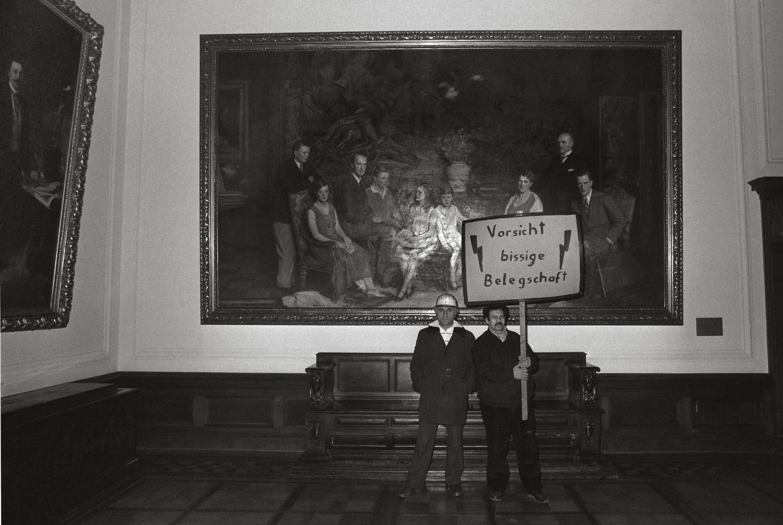 Protest von Krupp Arbeitern