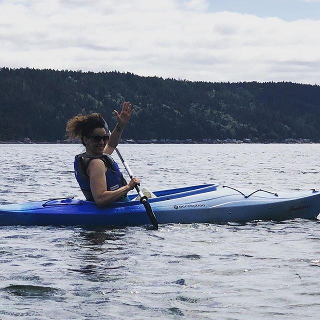 I ❤️ living in the #pnwonderland #hoodcanal #kayaking @grammarfreak22