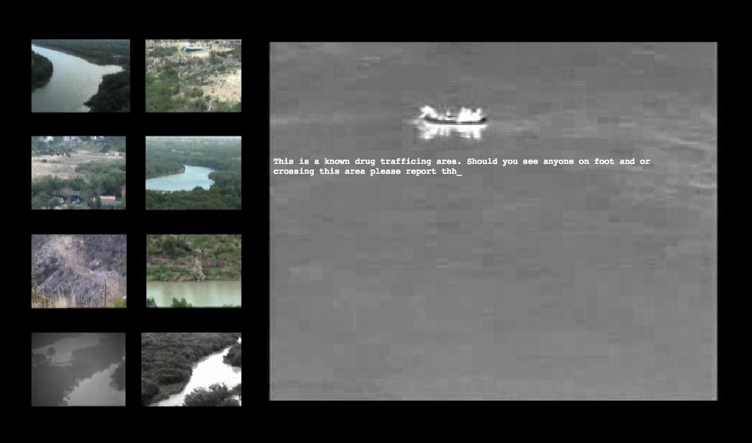 Fig. 1 The Texas Border, instalación audiovisual en línea, 2012.