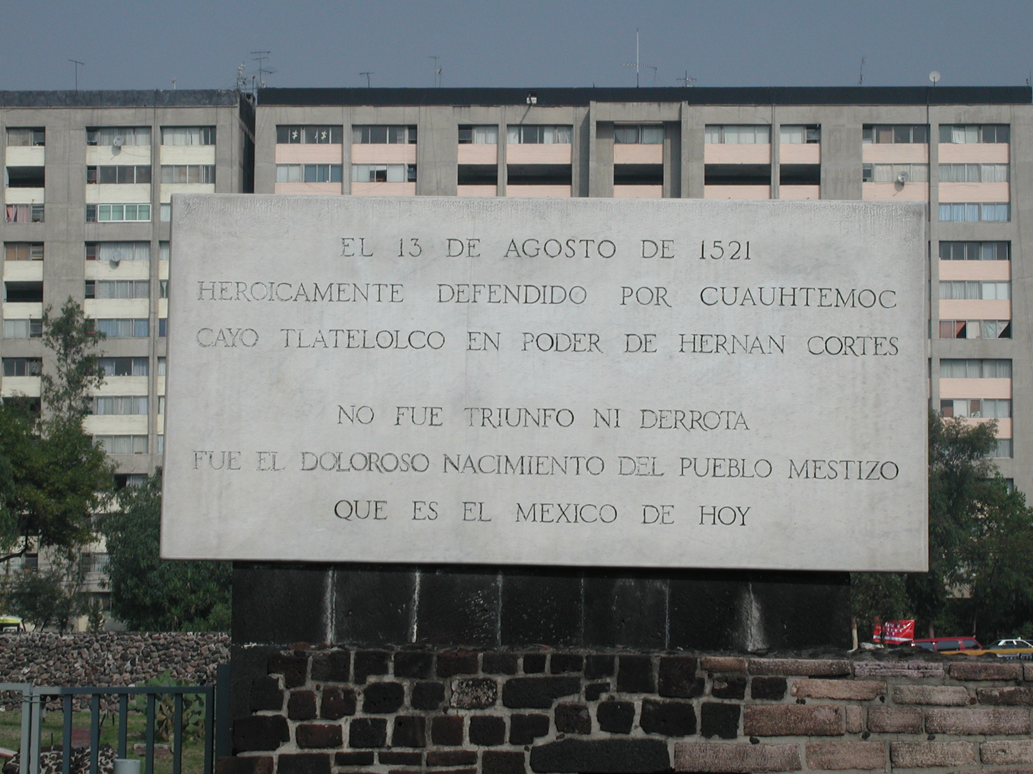 Declaración de origen, Plaza de las tres culturas, Tlatelolco