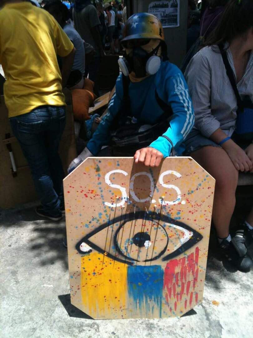 Imagen tomada durante las manifestaciones en Caracas