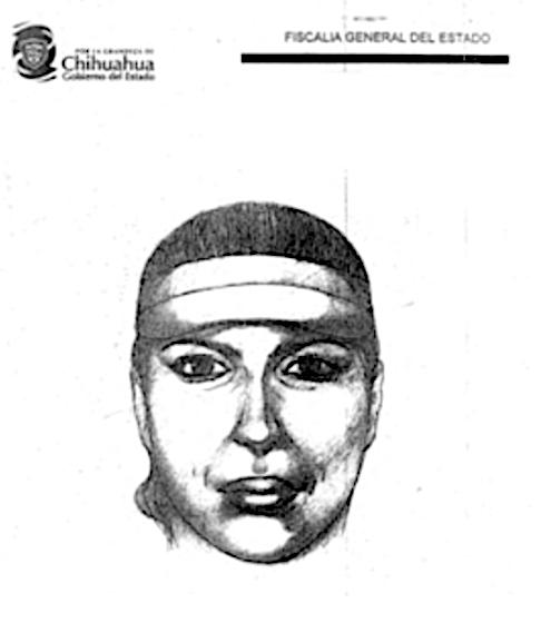 Retrato de búsqueda y captura de Diana la asesina de choferes